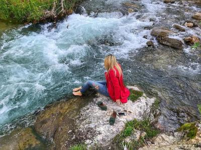 Body of water nature outdoor kennedy river stone beautiful waterfall
