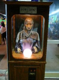 Fortune teller in front