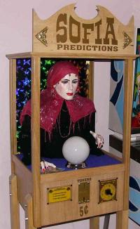 Sofia home made custom fortune teller arcade machines at www homemade fortune teller