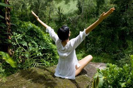 Yoga plein air jungle